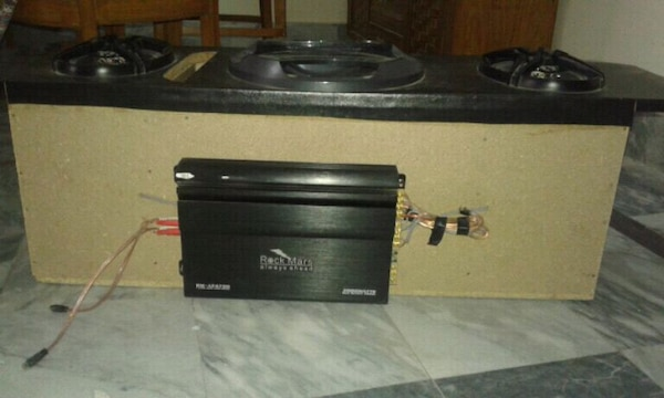 RockMars Amplifier and Woofer.