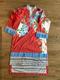 Sapphire kurta top printed with embroidery new