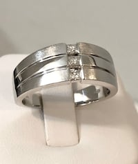 14k white gold men's crafted diamond wedding band *Compare at $2,200 Vaughan, L4J