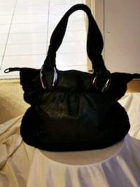 Via Spiga black pebble leather purse.