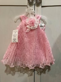 pink and white floral sleeveless dress 3735 km