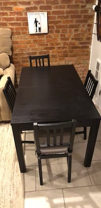 Ikea Extendable Bjursta Kitchen / Dining Room Table and Four Chairs Washington, 20001