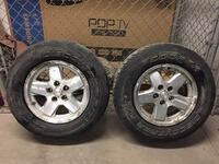 Jeep Liberty tires/rims 225/75R16 and spare cover CALGARY