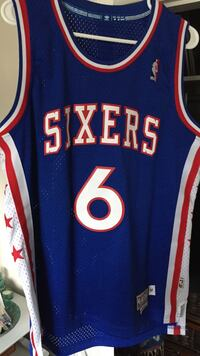 Blue and red sixers 6 basketball jersey Kamloops, V2B 1W6