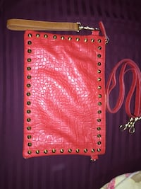 red and gold-colored leather wristlet Edmonton