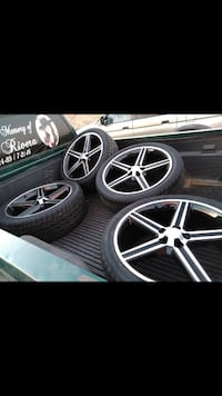 Rims and Wheels with Lug Nuts