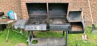 Char-griller gas/charcoal grill with side smoker a