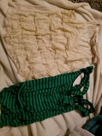 Lace tank size small green funky tank small Hurricane, 25526