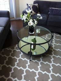 Pier 1 imports glass metal mirror coffee table