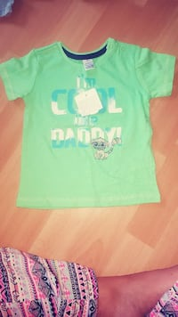 Toddler's green Ich bin cool wie Daddy Print-Rundhals-T-Shirt Köln, 51107