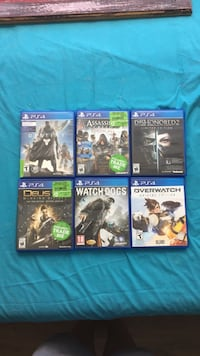 six assorted PS4 game cases Ottawa, K1Z