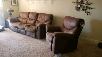 Reclining couch and rocker