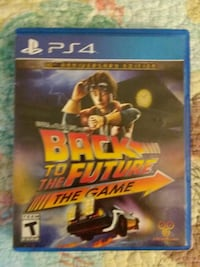 Ps4 game, back to the future Fredericksburg, 22406