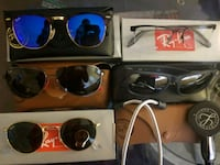 four assorted color sunglasses with boxes Watertown, 02472