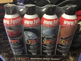 4 pack vehicle wax, cleaner