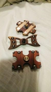 Hand made one of a kind wooden fidget spinners