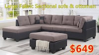 Brand new light brown fabric sectional sofa with storage ottoman warehouse sale  多伦多, M1S 4P5