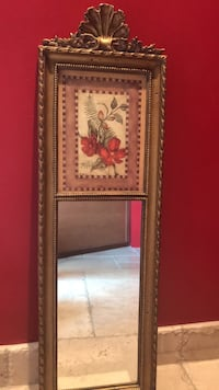 brown wooden framed painting of red flowers Sterling Heights, 48313