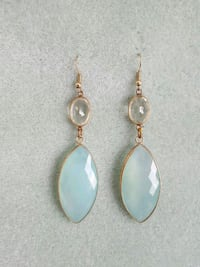 "3""dangle semi-precious gemstone earring Arlington Heights, 60004"