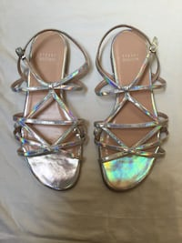 Stuart Weitzman flat leather strappy sandals Worn gently only once. Priced for quick sale, originally paid $165 US at Neiman Marcus. Coquitlam, V3K 3K2