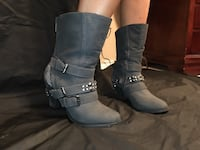 Grey boots with heel from The Buckle Abilene, 79602