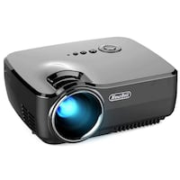 Projector, Hausbell Mini Projector Portable Video LED Projector HD for Outdoor Indoor Movie/Home Cinema Theater/Game (Black) New York