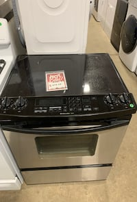 ✌Used KitchenAid slide in electric stove glass top stainless- Farmingdale