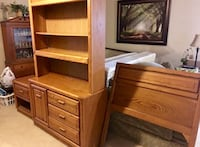 Twin size bedroom set. With metal frame and mattress  Arlington, 76015