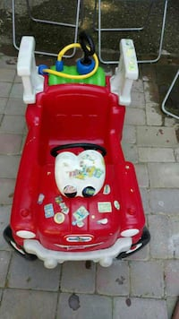 red and white power wheels