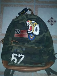 black and gray camouflage backpack Queens, 11691