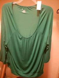 Lane Bryant Green dress shirt Gilbert