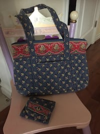 Vera Bradley bag/ purse/ tote and matching wallett