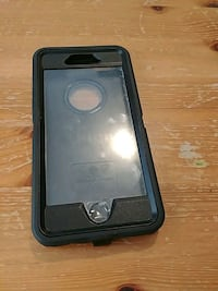 black and gray Otter Box iPhone case