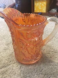 Northwood Imperial Carnival Glass Pitcher  Alexandria, 22306