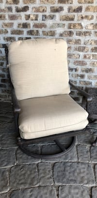 White and brown metal armchair Draper, 84020