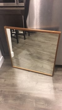 Square Mirror with Wood Trim Mississauga, L5J 1R8