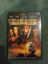 Pirates of the Caribbean the Curse of the Black Pearl 2-disc DVD case Franklin, 16323