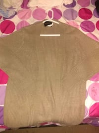 Knitted Sand Open Cardigan
