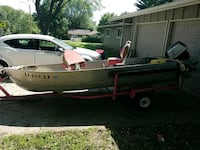 15ft fishing boat with trailer Lawrence, 66049