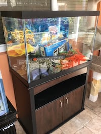 Fish tank 65 gallons with stand and accessories  Pembroke Pines