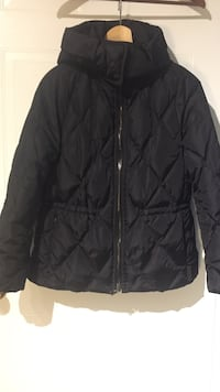 Coach black zip down jacket