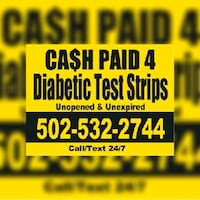 We Buy Your Extra Diabetic Test Strips  Louisville, 40207