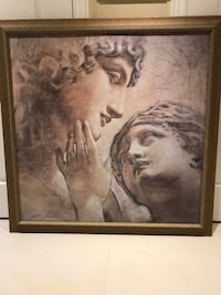 man and woman painting with brown wooden frame Vaughan, L4H 0N8
