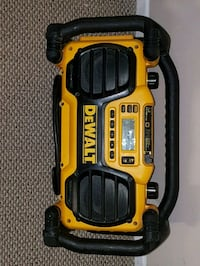 yellow and black DEWALT radio and charger London