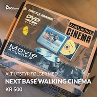 Next base walking cinema. CD spiller Grålum, 1712