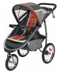 Graco Fastaction Fold Jogger Click Connect Stroller, Tangerine 47 km