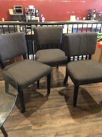 3 large bottom bistro chairs  Langley, V3A