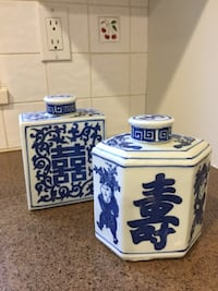 white and blue ceramic canisters 3752 km