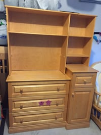 wooden cabinet with shelf, chair and bed frame Richmond Hill, L4E 0C3