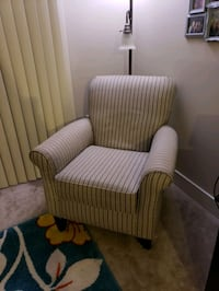 brown and white striped sofa chair North Bethesda, 20852